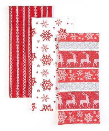 Take a look at this Snowfall Dish Towel - Set of Three by Design Imports on #zulily today!