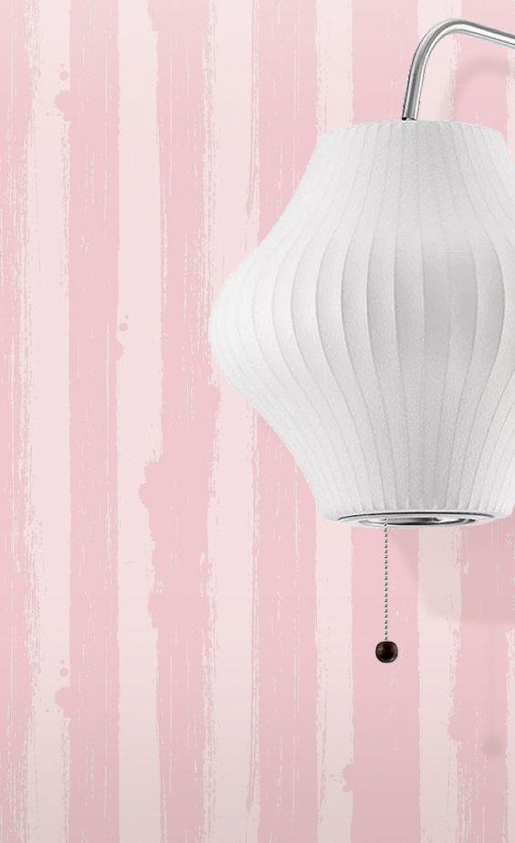 Mini Moderns | Different Strokes Wallpaper - Smoothie Pink