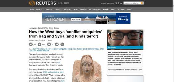 خرید اشیای عتیقه مسروقه در عراق و سوریه، ریختن پول به جیب داعش