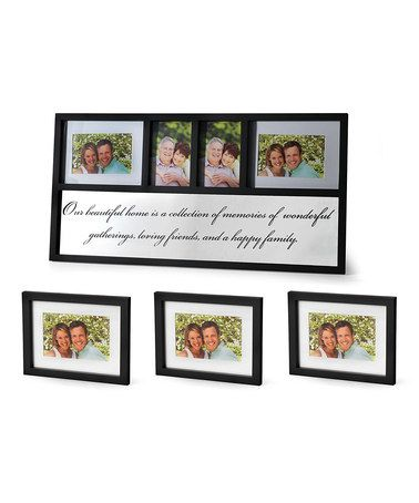 Take a look at this Black Photo Frame Set by Elements by Lifetime Brands on #zulily today!
