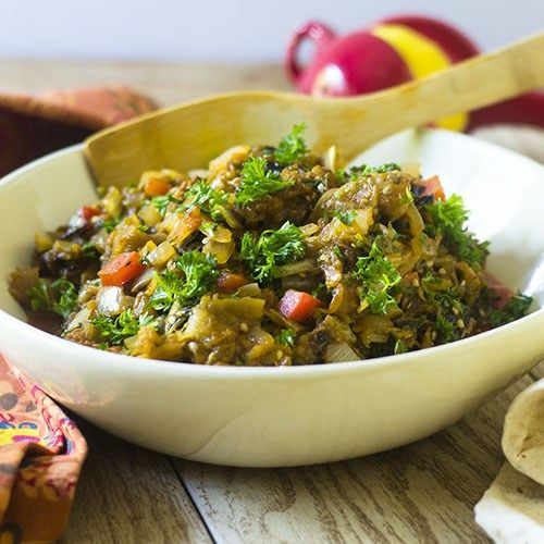 A Charred Eggplant Salad from Feed Your Soul Too - a spin on the wonderful dish from #Zahav