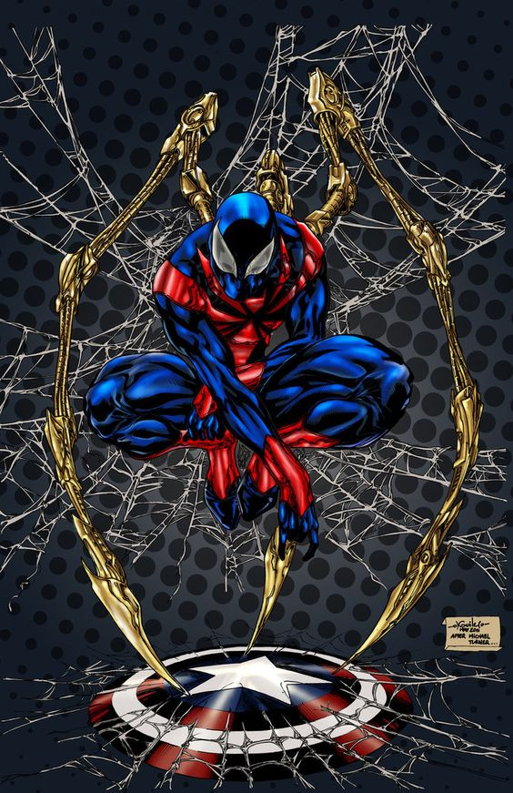 Iron Spider Fan Art Spiderman Color By Spiderguile amp Pigz n Zen