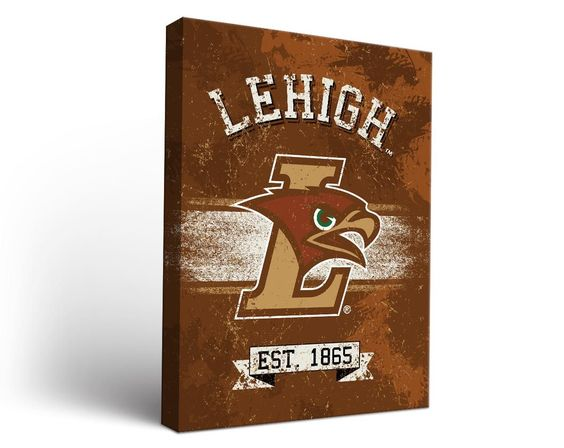 Lehigh Mountain Hawks Classic Canvas Wall Art Rectangle