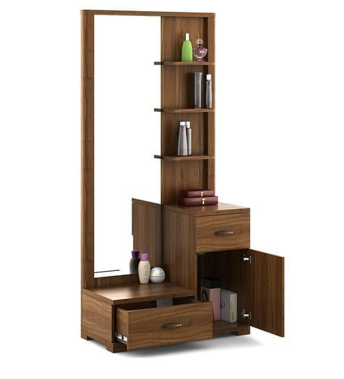 Buy Kosmo Legend Dressing Table In Natural Teak Finish By Spacewood Online Dressing Units Tables Furniture Pepperfry Product Dressing Table Design Bedroom Cupboard Designs House Furniture Design