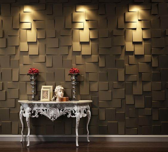 interior 3d wood wall panel design