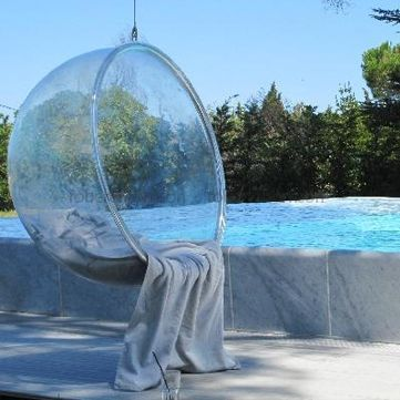 Replica hanging bubble chair van robert thompson stekmagazine interieur stek hanging - Bubble chair replica ...