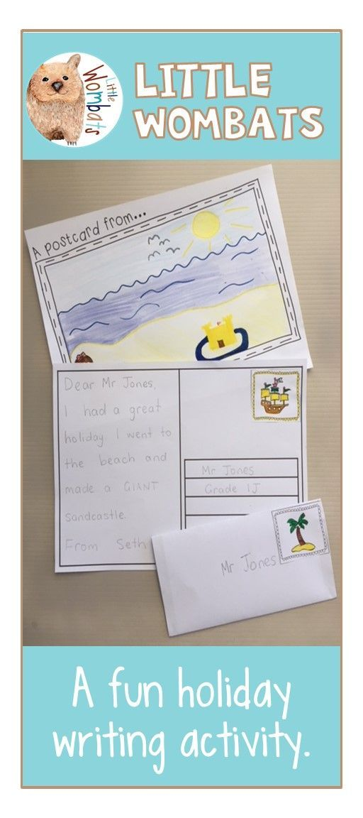 A Fun Writing Activity For Back To School Students Write A Postcard To Their Teacher And Send It T Holiday Writing Fun Writing Activities Writing Activities