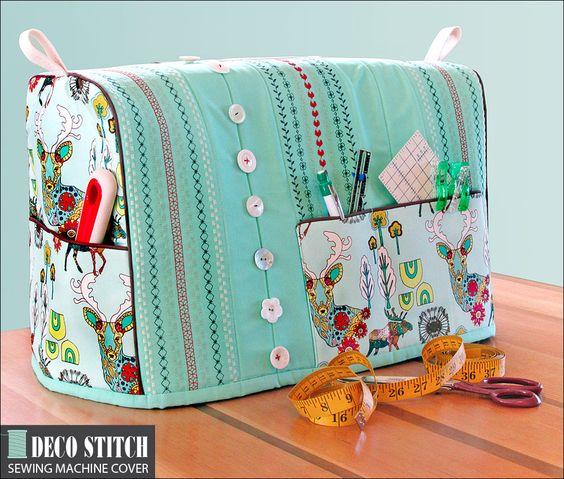 Funda para máquina de coser con organizador