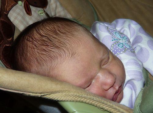 Newborn Miriam (2007).  Modified using The GIMP