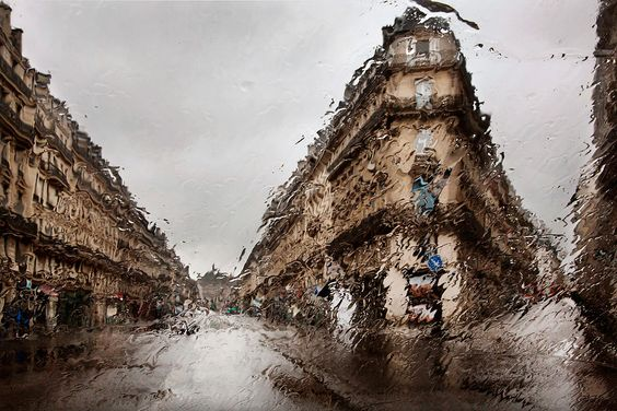 Paris in the rain by Christophe Jacrot