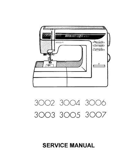 elna 3002 3003 3007 service manual and parts list