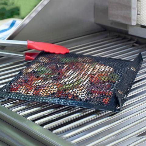 BBQ Grill Mat Reusable Barbecue Mesh Grill Mat Non-stick Teflon Kitchen Cooking