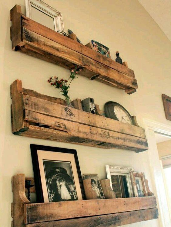 etagere bois vieux