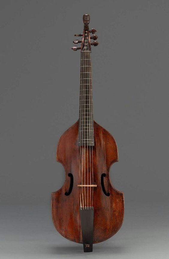 Tenor viola da gamba    Richard Blunt, about 1600  Length 102.3 cm, width 32 cm (Length 40 1/4 in., width 12 5/8 in.)  Maple, spruce, ebony  Classification: Musical instruments