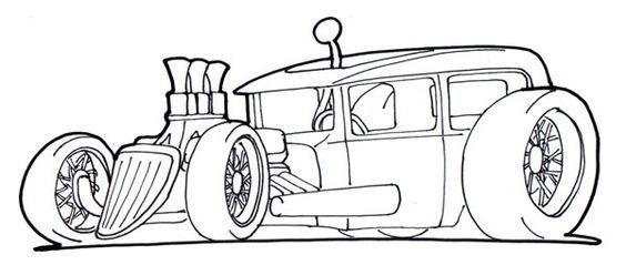 Rat Rod Coloring Pages Rat Fink Cars Coloring Pages Cool Car Drawings Car Drawings