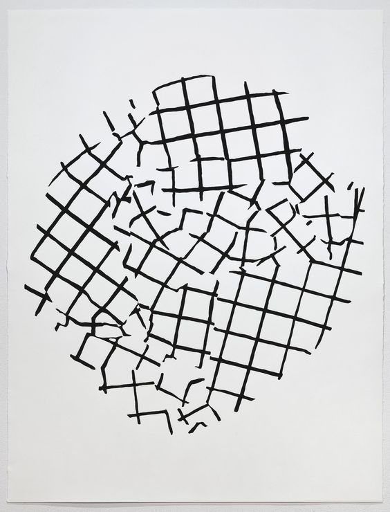 "Crush (Untitled grid), 2011, screenprint, 38 x 50"""