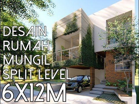 desain rumah 2 lantai void - desain minimalis