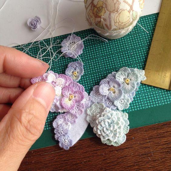 Crochet Flower Butterfly. // WHAT A GORGEOUS LITTLE ...