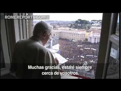"http://www.romereports.com/palio/ultimo-angelus-de-benedicto-xvi-no-abandono-la-iglesia-la-servire-de-otro-modo-spanish-9144.html#.USsl-DAz3dI Último ángelus de Benedicto XVI: ""No abandono la Iglesia, la serviré de otro modo"""