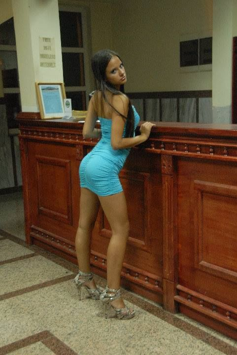 Blue short dress for petite office girls spreading her legs: Blue Shorts, Short Skirts, Short Dresses, Office Girls