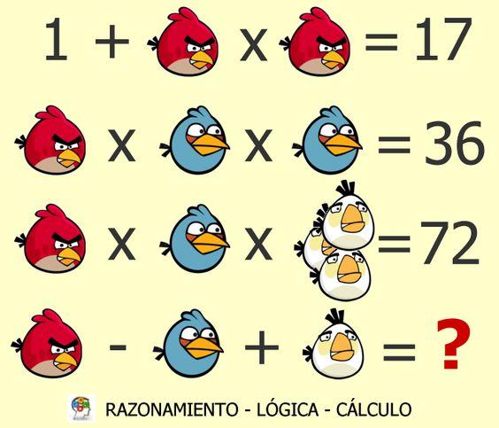 Un juego de lógica, razonamiento y cálculo #gimnasiamental