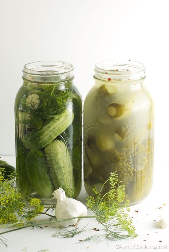 Pickling, How to make and Vinegar on Pinterest