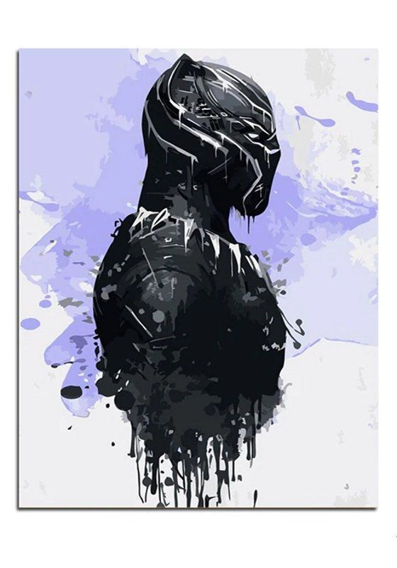 Black Panther Paint By Number Kit The Avengers Movie Diy Painting On Canvas Coloring By Number 16 20 Canvas Art Decor Diy Gift Idea Marvel Paintings Avengers Wall Art Avengers Painting