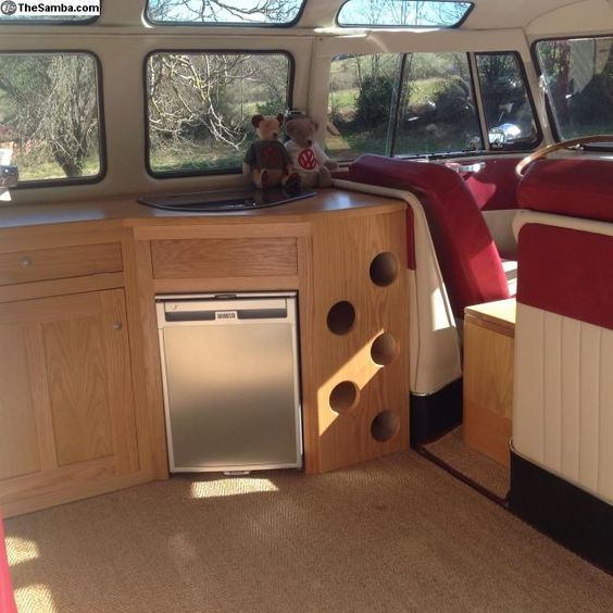 vw interior split screen camper van interiors