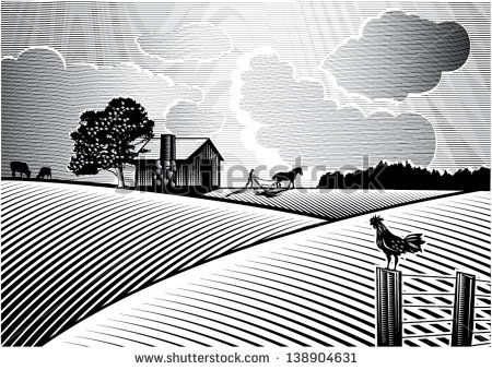 farm fields clipart black and white - Google Search ...