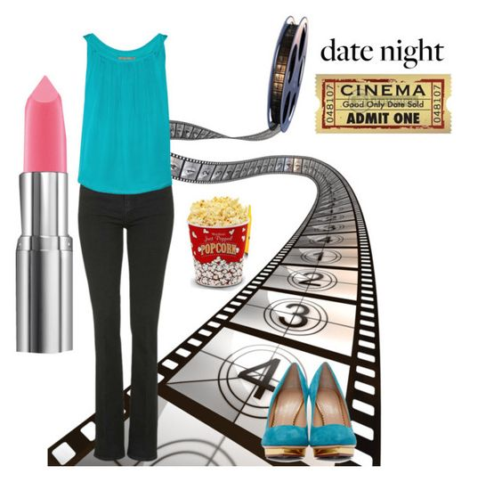 60 Second Style: Movie Night Contest by scardino on Polyvore featuring polyvore, fashion, style, Halston Heritage, Topshop, Charlotte Olympia, West Bend and clothing