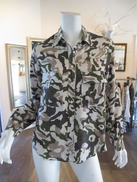 Rebecca Camp Top in Camo by Sam and Lavi | SaVvy | Retail Therapy