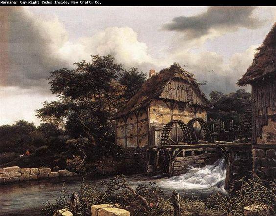 Jacob van Ruisdael. Molinos de agua.