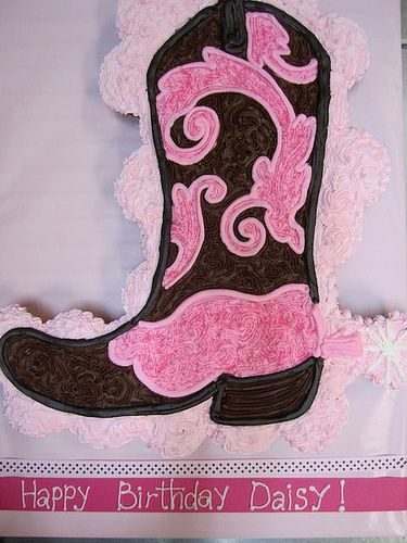 Cupcakes Take The Cake: Pull-apart heart cake with rose cupcakes and a boot cupcake cake