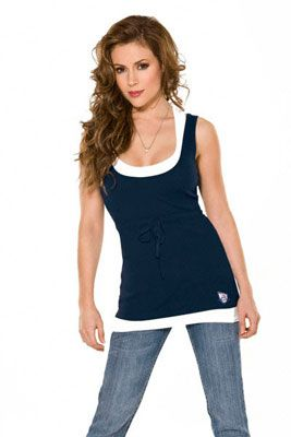 Brooklyn Nets Touch by Alyssa Milano 2-Layered Racer Back Tank Top