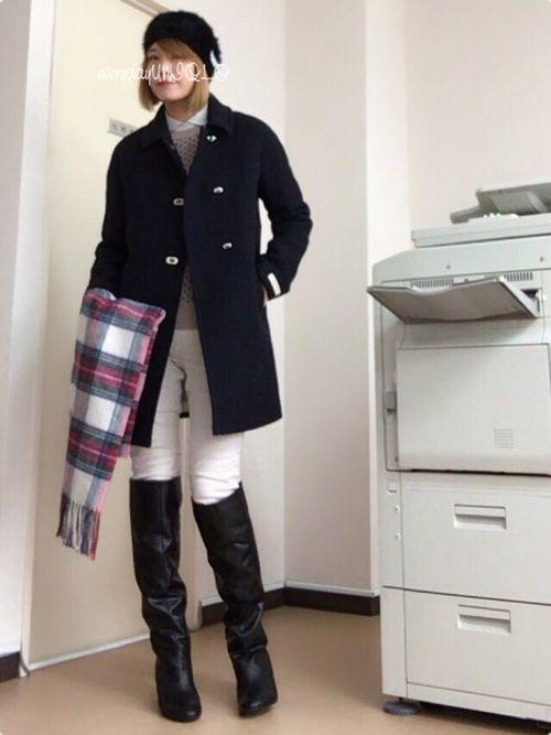 足元もあたたかくオシャレにきめたい 寒い季節はロングブーツで決まり Folk ファッション ファッションアイデア ファッション コーディネート