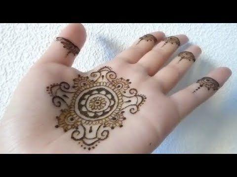نقش هندي جميل على كف اليد Youtube Henna Tattoo Henna Hand Tattoo Hand Henna