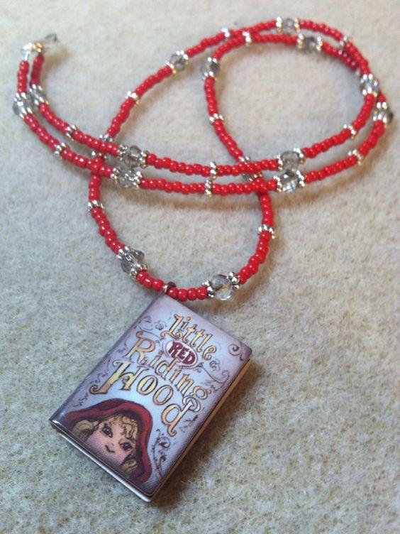 Petite Little Red Riding Hood Book Pendant