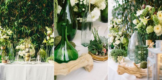 Katherine & Mark's Modern Wedding at Studio 1342 in Los Angeles - succulents and greens - www.sweetlittlephotographs.com
