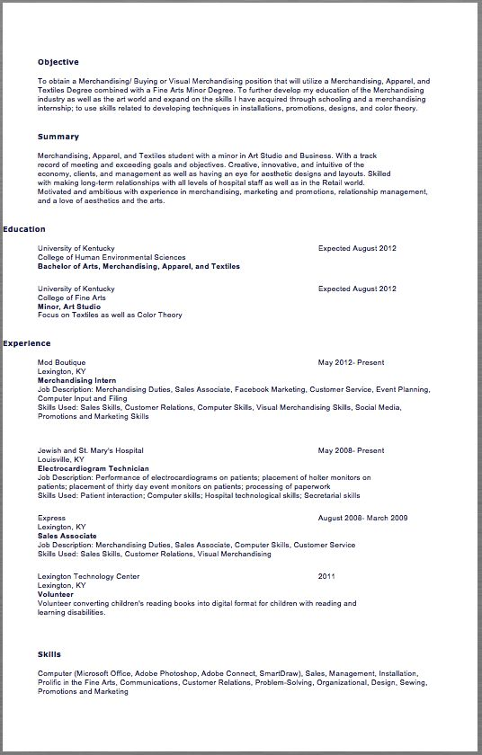 Sociology Student Resume Example - http\/\/resumesdesign - internships resume examples