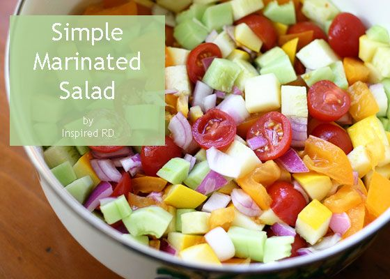 Simple Marinated Salad by Inspired RD