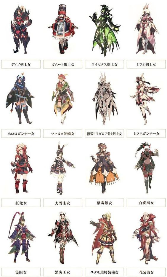 Monster hunter hunters and armors on pinterest for Decorations monster hunter world