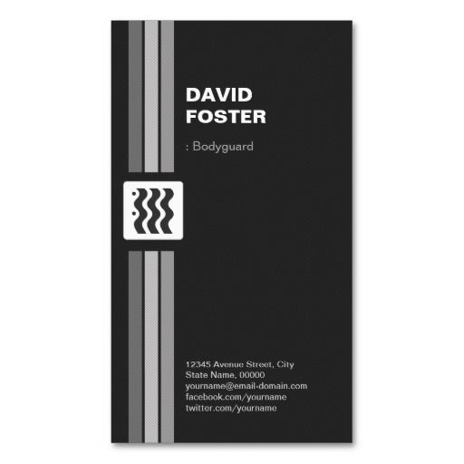 Bodyguard Premium Double Sided Business Cards Pinterest And