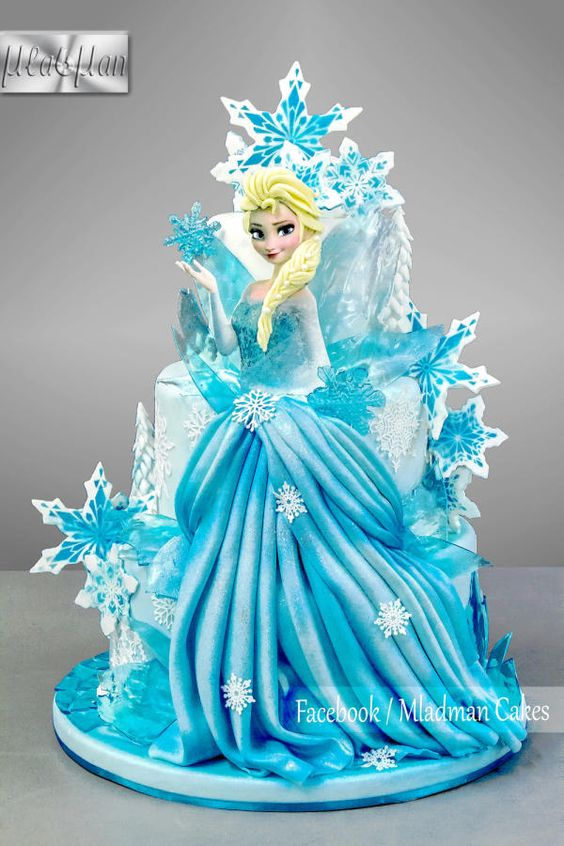 Ice Queen Elsa Cake by MLADMAN: