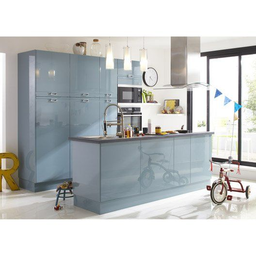 Porte de cuisine bleu F45 Crystal, L45 X H70 cm | Kitchin | Pinterest