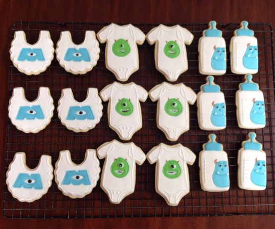 monster inc baby shower cookies | Cookie Connection