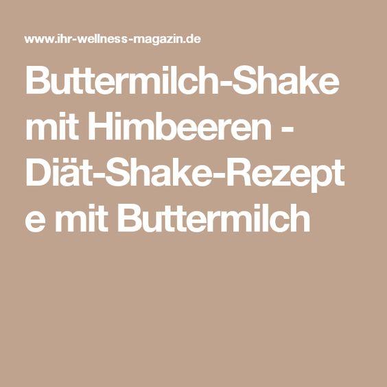 Buttermilch-Shake mit Himbeeren - Diät-Shake-Rezepte mit Buttermilch