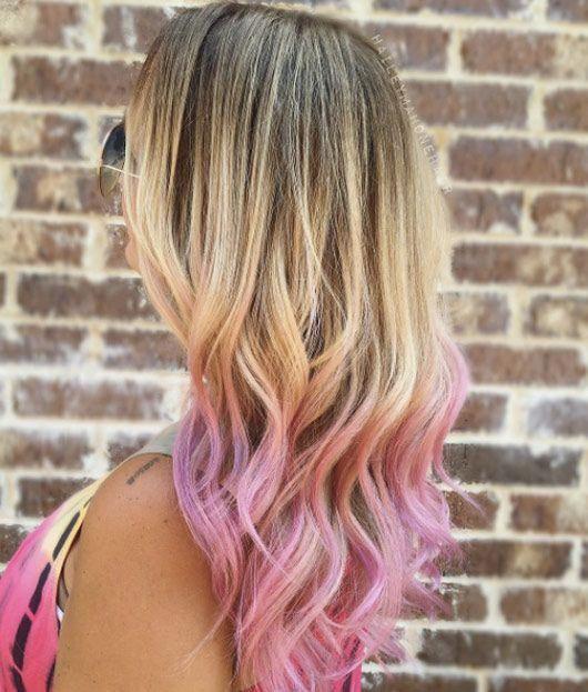 Vivid Pink Tips By Hailey Mahone Pink Hair Dye Pink Hair Tips Pink Hair Highlights