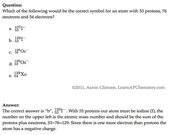 PNE question AP Chem 5 - Atomic Structure and Periodicity - atomic structure worksheet