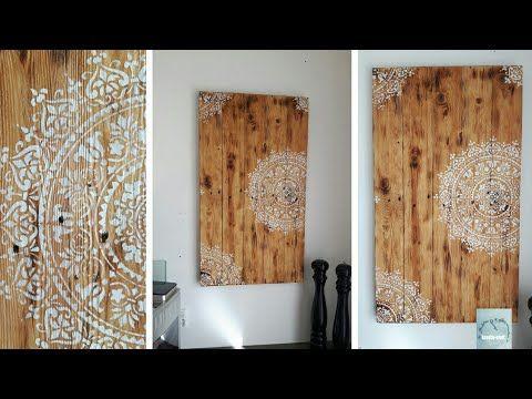 diy holz wandbild mandala geflammtes landhausstil homify bild auf wanddeko ornament metall wanddekoobjekt