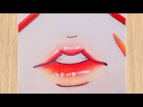 فقط بثلاثة الوان رسم فم بالطريقة الكورية رسومات سهلة كورية كيوت رسم Korean Mouth Drawing Tutorial Youtube Drawing Tutorial Drawings Lipstick